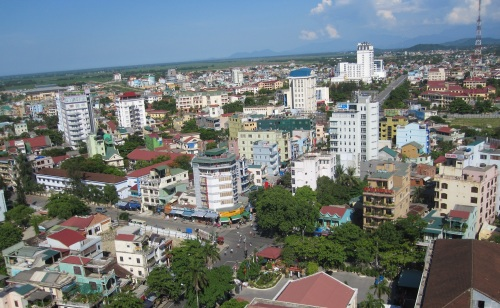 """Một đoạn """"đại lộ Bún Bò"""" ở Huế nhìn từ trên cao. Ảnh: Phanxipăng"""