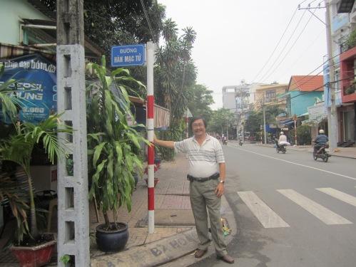 Bảng tên đường ở quận Tân Phú, TP.HCM, cũng ghi Hàn Mạc Tử chứ không ghi Hàn Mặc Tử. Ảnh: Trần Ngọc Đại Dương