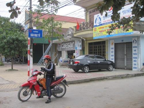 Bảng tên đường ở thành phố Vinh, tỉnh Nghệ An, cũng ghi Hàn Mạc Tử chứ không ghi Hàn Mặc Tử. Ảnh: Nguyễn Ngọc Dũng