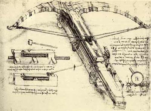 Bản thiết kế của Leonardo da Vinci: nỏ máy khổng lồ