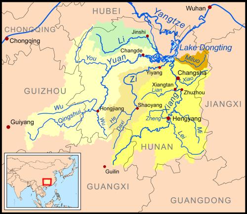 Hồ Động Đình / Lake Dongtinh của Trung Hoa qua bản đồ