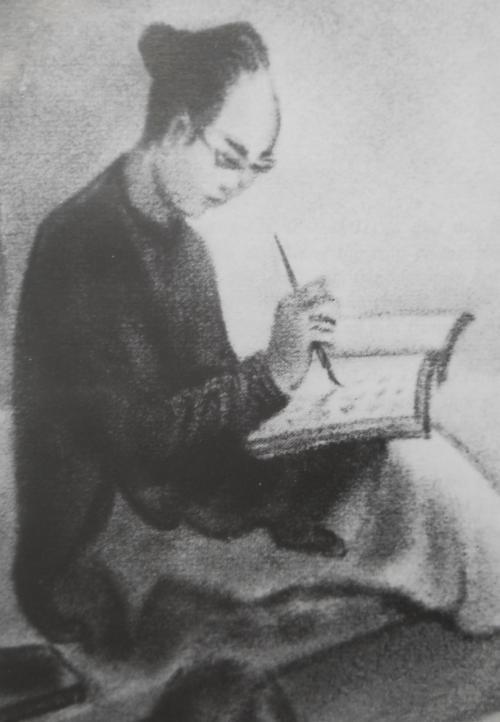 Tú Xương do hoạ sĩ Ngym tức Trần Quang Trân vẽ Trần Tế Xương theo trí nhớ