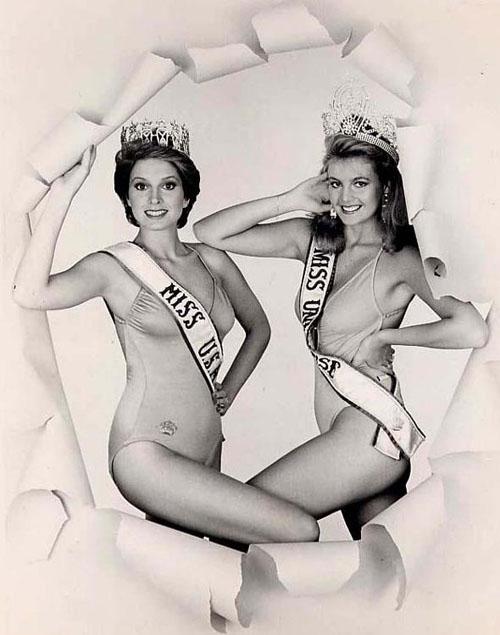 Hoa hậu hoàn vũ 1981 Irene Saer (Venesuela) & hoa hậu Hoa Kỳ 1981 Kim Saelbrede