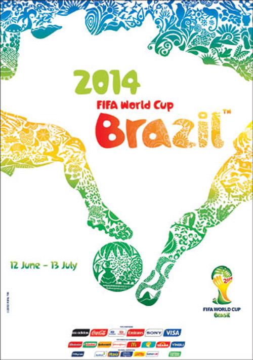 Bích chương / affiche / poster chính thức của World Cup 2014