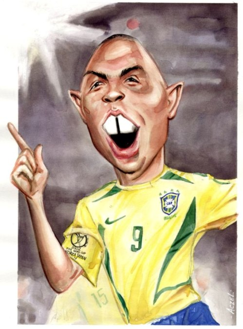 """Hí họa """"người ngoài hành tinh"""" Ronaldo Luis Nazário de Lima"""