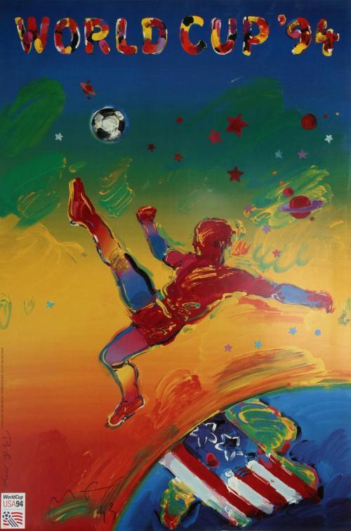 Bích chương / affiche / poster chính thức của World Cup '94 do Peter Max thiết kế