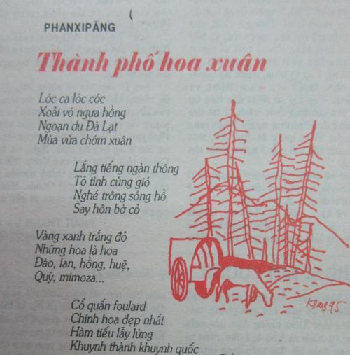 """Bài thơ """"Thành phố hoa xuân"""" của Phanxipăng đăng trên tạp chí Thế Giới Mới 222 (2-1995)"""