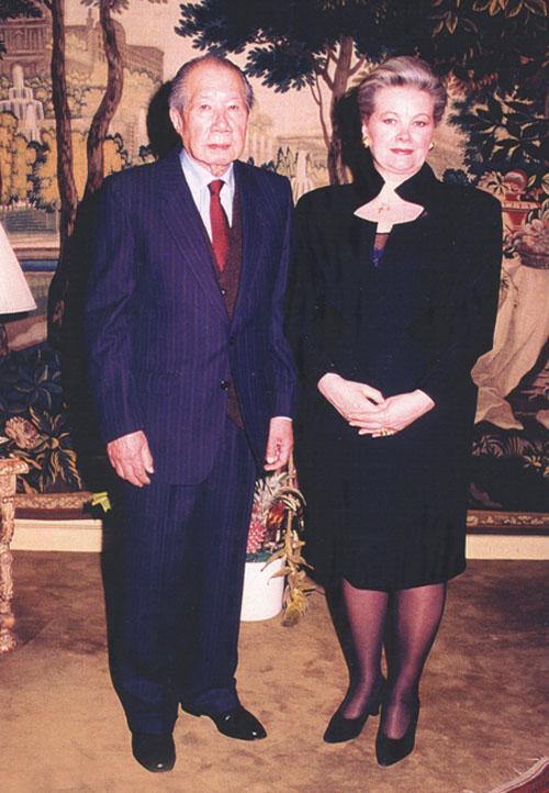 Cựu hoàng Bảo Đại & phu nhân Maunique Baudot