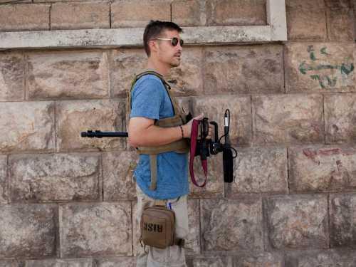 Nhà báo James Foley tác nghiệp