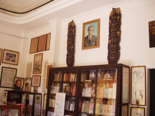 Trong nhà lưu niệm Đông Hồ - Mộng Tuyết. Ảnh: Dũng Nguyễn