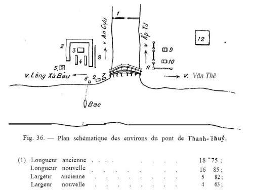 Sơ đồ cầu ngói Thanh Toàn của ông Trần Đình Nghi đăng trong BAVH №3-1917