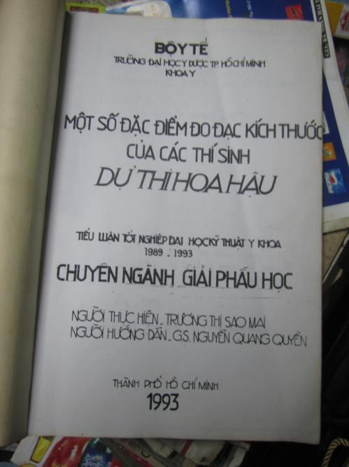 Tiểu luận tốt nghiệp Đại học Kỹ thuật Y khoa năm 1993 của Trương Thị Sao Mai