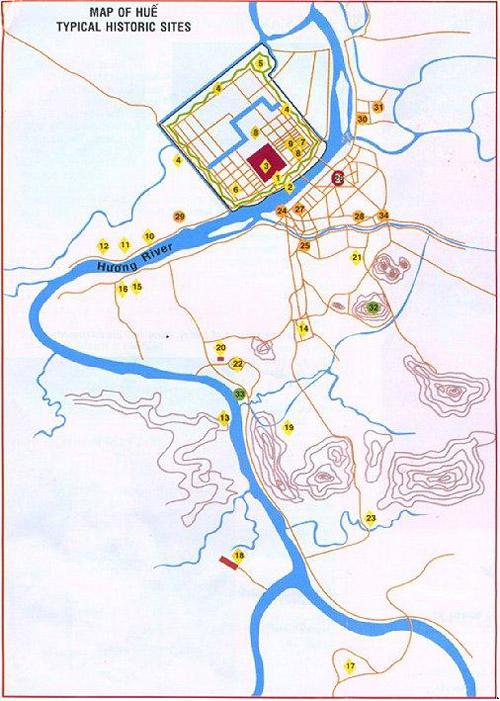 Sông Hương trên bản đồ