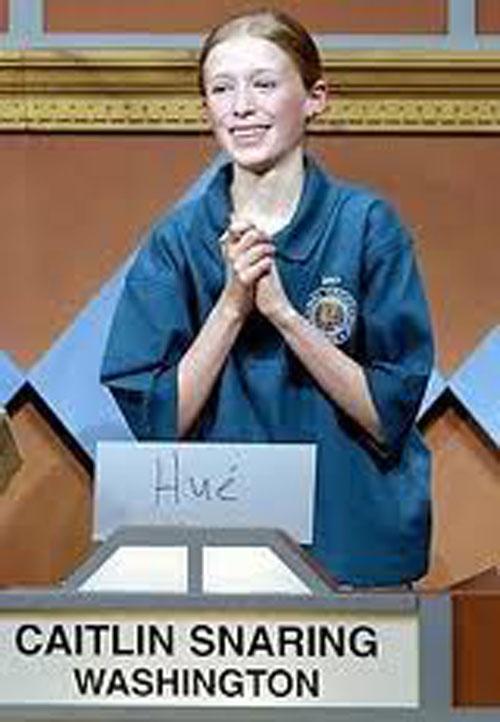 Caitlin Snaring, 14 tuổi, đoạt giải nhất cuộc thi National Geographic Bee năm 2007 với lời giải: Hué